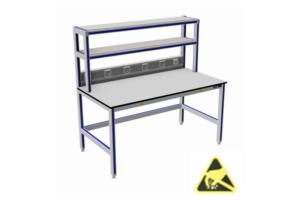 ESD-veilige tafels met 2x opbouw