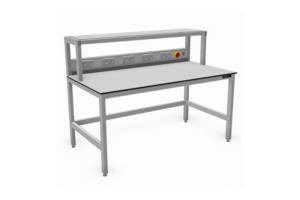 Aluminium werktafels met opbouw