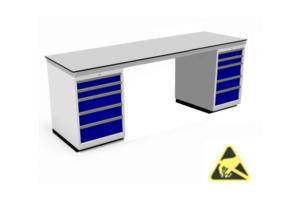ESD-veilige tafels met kasten