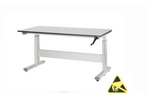 In hoogte verstelbare tafels ESD
