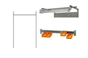 Toebehoren voor in hoogte verstelbare werktafels