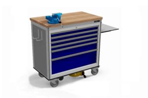 elektrisch aangedreven service trolley met schuifladekast