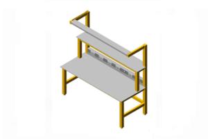 geïsoleerde werktafel (beukenhouten frame)