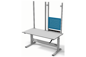 handmatig verstelbare testtafel met staanders