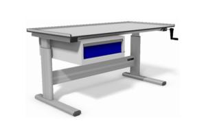 handmatig verstelbare werktafel met 3-zijdige rand