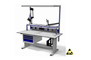handmatig verstelbare werktafel voor electronica montage