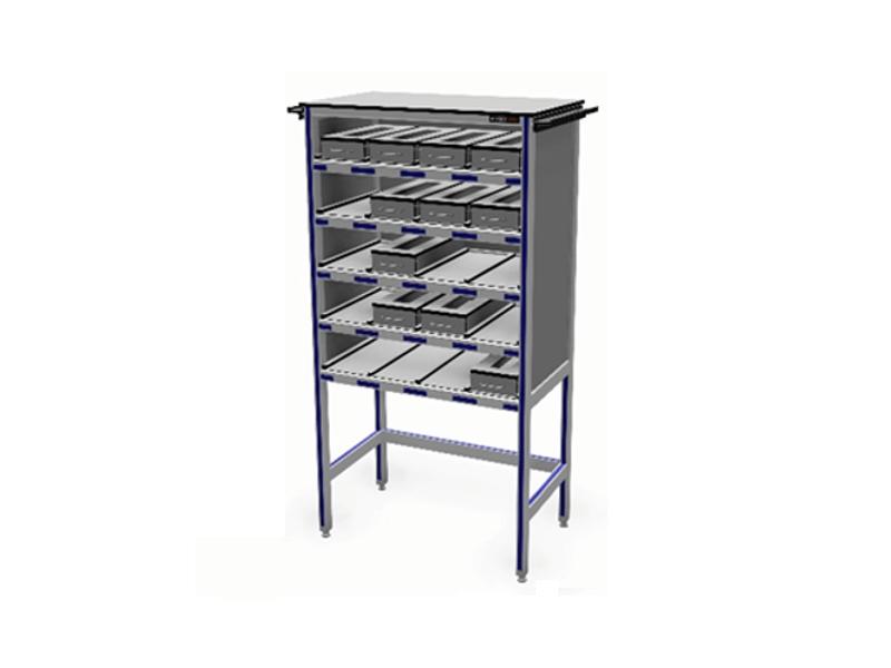 Voorbeelden op maat aluminium werktafels samengesteld naar wens adiform b v - Kast voor het opslaan van boeken ...