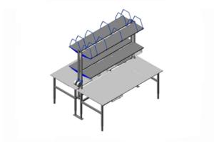 paktafel opstelling (webshop), incl. legborden, dozen