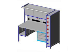 reparatie- en testtafel t.b.v. lasapparatuur