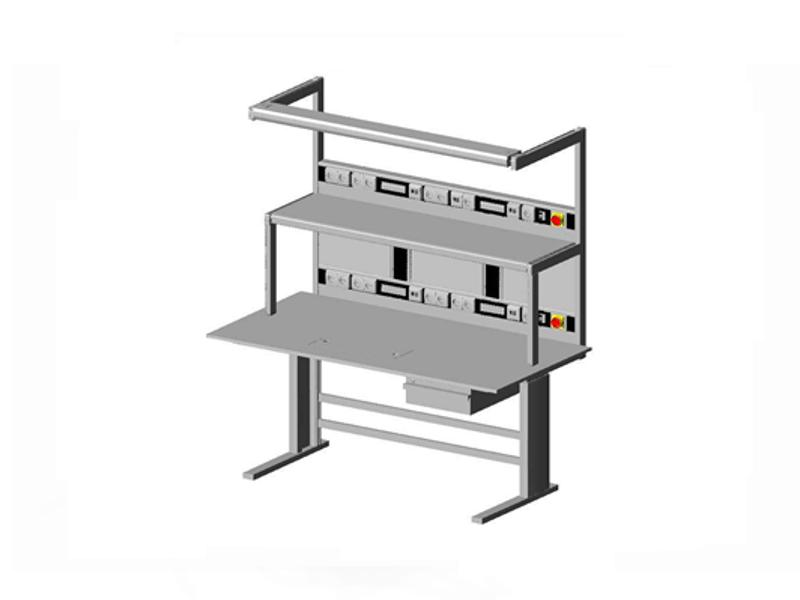 test- en onderzoektafel elektrisch in hoogte verstelbaar