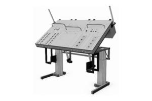traploos verstelbare kantelbare testtafel, uitneembare testladen