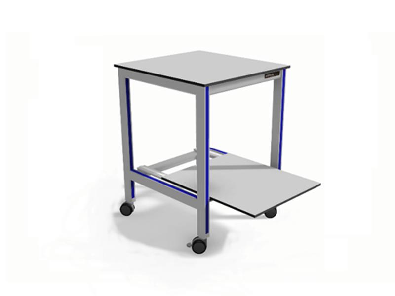 trolley met uitschuifbaar onderblad voor printer