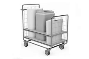 afvoertrolley afvalbakken (gezondheidszorg)