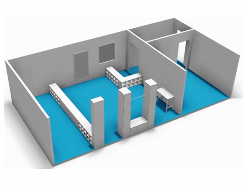toegangssluis cleanroom diverse opstelling