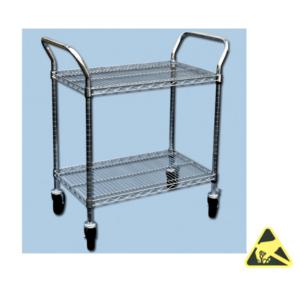 ESD-veilige trolley 2 legborden