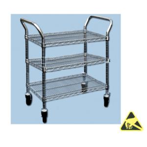 ESD-veilige trolley 3 legborden