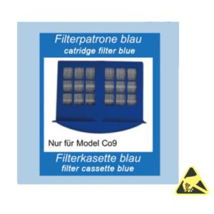 filtercassette blauw ESD-veilig