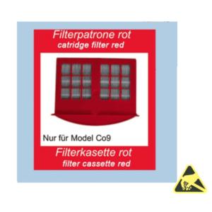 filtercassette rood ESD-veilig