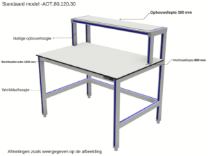 Aluminium werktafel van Adiform