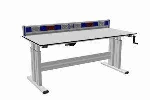 tafel handmatig verstelbaar (300 kg) met energiegoot en scheidingstrafo