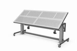 elektrisch verstelbare montagetafel met kantelbaar werkblad