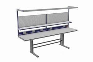 elektrisch verstelbare ESD werktafel afm. 2600 x 800 mm