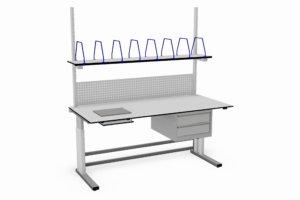 elektrisch verstelbare paktafel met o.a. ingebouwde weegschaal