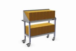 trolley geschikt voor 16 stuks archiefdozen