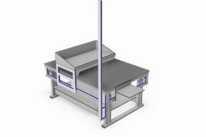 elektrisch verstelbare montagetafel incl. onderblad en verschuifbare bak
