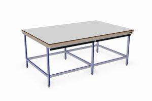 vlakke werktafel 2600 x 1700 mm, 40 mm beuken werkblad met Volkern